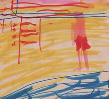 LOOKING FOR LIFEGUARD(C2011)(ORIGINAL MARKERS) by Paul Romanowski