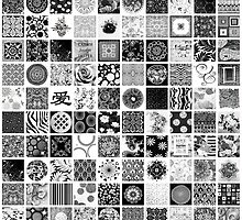 Black and White Squares by bevgeorge