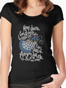 Little Can of Hate (Movie Dalek) Women's Fitted Scoop T-Shirt