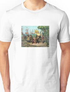 Columbus Taking Possession Of The New Country Unisex T-Shirt