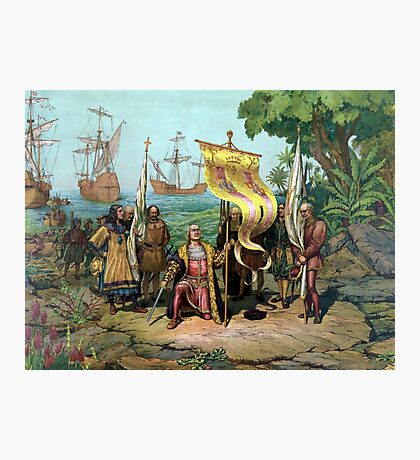 Columbus Taking Possession Of The New Country Photographic Print