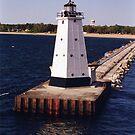 Ludington Lighthouse by Stephen D. Miller