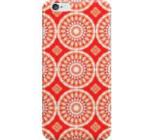 White, Red and Orange Abstract Design Pattern iPhone Case/Skin