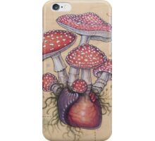 Toadstool Heart (Amanita Muscaria) iPhone Case/Skin