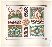 Maurice Verneuil Georges Auriol Alphonse Mucha Art Deco Nouveau Patterns Combinaisons Ornementalis 0010 Poster