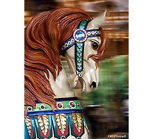 Carousel Horse Photographic Print