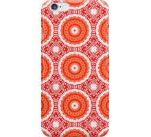 Orange, White and Red Abstract Design Pattern iPhone Case/Skin