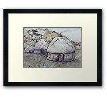 Sunrise at the Ger Camp Framed Print