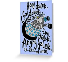 Skaro Dalek (Soft Kitty Parody) Greeting Card