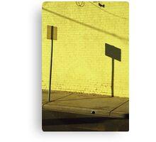 Yellow Brick Wall, Melbourne  Canvas Print