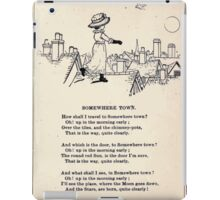 Miniature Under the Window Pictures & Rhymes for Children Kate Greenaway 1880 0015 Somewhere Town iPad Case/Skin