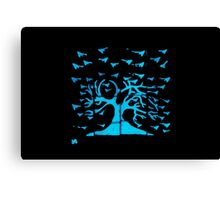Glowing Bacterial Art - Bird Tree Canvas Print