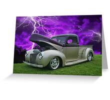 Pick up in Lightening Storm Greeting Card