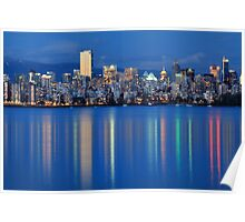 Vancouver city Twilight Poster