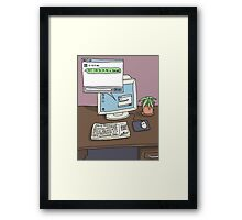 Workspace Aesthetic Framed Print