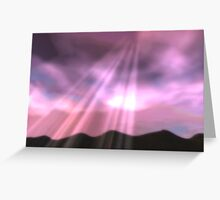 Pink sunrays Greeting Card