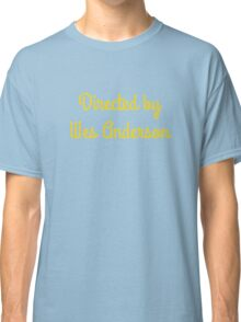 Directed By Wes Anderson (blue and yellow) Classic T-Shirt