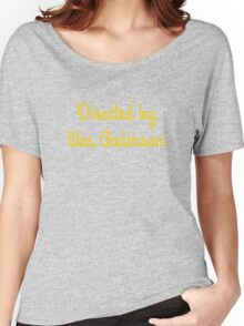 Directed By Wes Anderson (blue and yellow) Women's Relaxed Fit T-Shirt