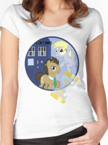 The Doctor and the Assistant  Women's Fitted Scoop T-Shirt