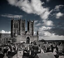 Lincoln Cathedral from Castle Wall by Chris Bunce