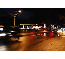 Blood on the streets Photographic Print