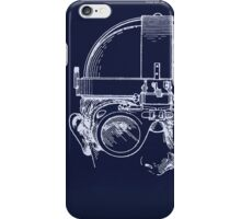 Vintage Welders Goggles blueprint drawing iPhone Case/Skin
