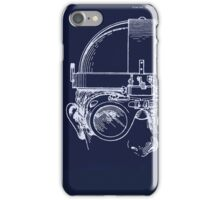 Vintage Welders Goggles blueprint detail drawing iPhone Case/Skin