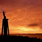 Spirit of the Sea Statue on sunrise - Devonport by Cody Williams