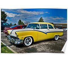 1956 Ford Fairlane Club Sedan Poster