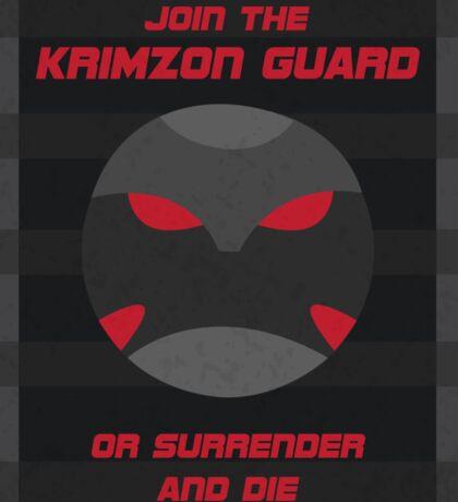 Krimzon Guard Propaganda Sticker