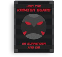 Krimzon Guard Propaganda Canvas Print