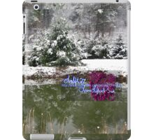 snowy reflections iPad Case/Skin