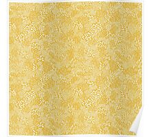 Yellow Tiny Leaves Poster