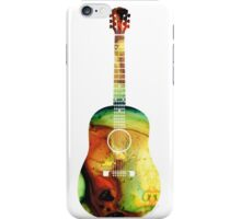 Acoustic Guitar - Colorful Abstract Musical Instrument by Sharon Cummings iPhone Case/Skin