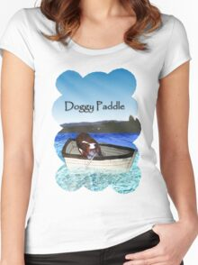 Doggy Paddle Women's Fitted Scoop T-Shirt