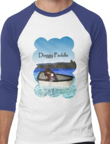 Doggy Paddle Men's Baseball ¾ T-Shirt