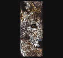 Stone Rock'd Wolf Art by Sharon Cummings One Piece - Short Sleeve
