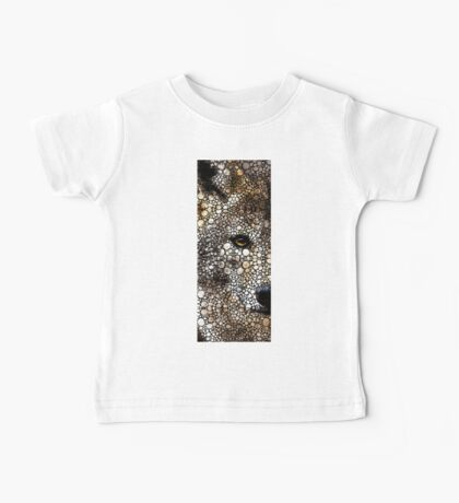Stone Rock'd Wolf Art by Sharon Cummings Baby Tee
