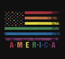 AMERICA RAINBOW FLAG by LegendTLab