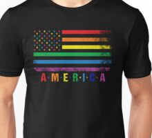 AMERICA RAINBOW FLAG Unisex T-Shirt