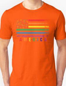 AMERICA RAINBOW FLAG T-Shirt