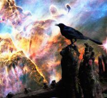 Calling The Night - Crow Art By Sharon Cummings Sticker
