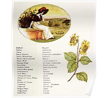 Language of Flowers Kate Greenaway 1884 0019 Descriptions of Specific Flower Significations Poster