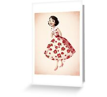 Girl of Main Street Greeting Card
