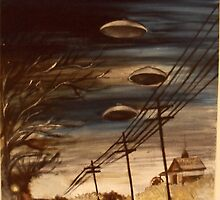 Interstellar Visitors In A Country Town Overdrive by John Dicandia  ( JinnDoW )