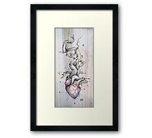 Driftwood Heart 02 Framed Print
