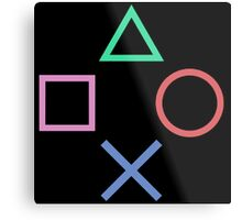 Playstation Buttons Formation Metal Print