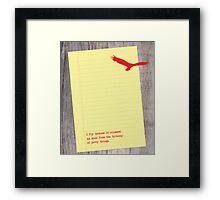 I_fly Framed Print