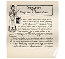 Mrs Leicester's School Charles & Mary Lamb with Minifred Green 18xx 0017 Dedication Poster