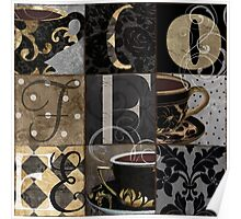 Coffee Love Nine Patchwork Poster